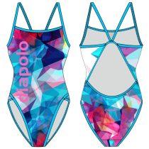 Női vékony pántos úszódressz-Classical-Color Triangle
