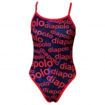 Női vékony pántos úszódressz-Diapolo Design 2