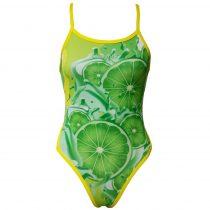 Női vékony pántos úszódressz-Lemon Lime Fruit