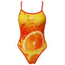 Női vékony pántos úszódressz-Orange Fruit
