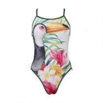 Női vékony pántos úszódressz-Toucan