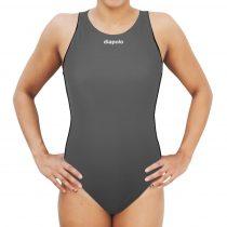 Női vízilabdás úszódressz-Comfort-szürke