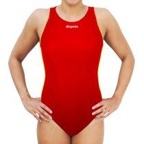 Női vízilabdás úszódressz-Comfort-piros