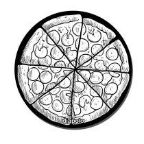 Egérpad-Pizza