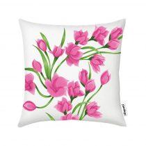 Díszpárnahuzat - Pink Flowers