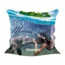 Díszpárnahuzat-Sync Mermaid kiss