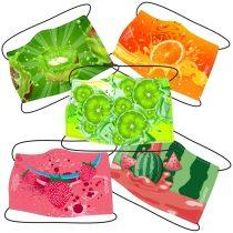 Védőmaszk - Gyümölcs - 5 darabos csomag